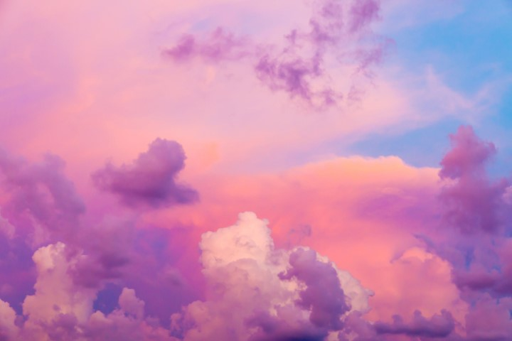 Picture of pink clouds